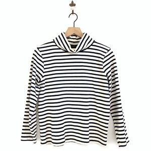J.Crew Sailor Stripe Funnelneck T-Shirt XS F5634